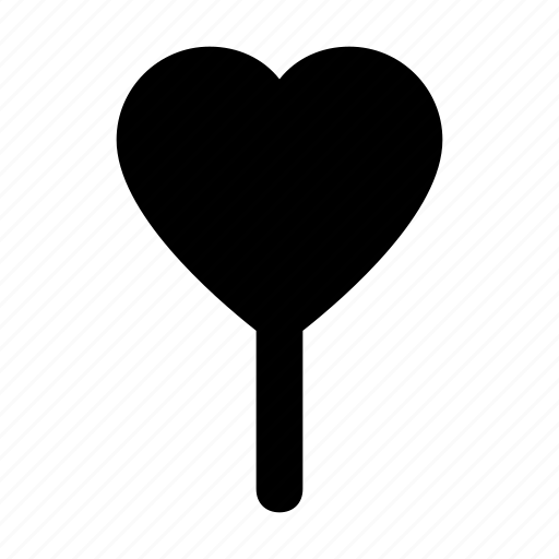 candy, confectionery, heart lollipop, lolly, sweet snack icon