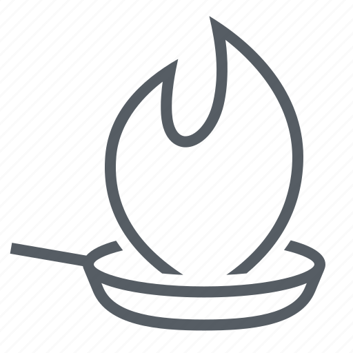 fire, kitchen, pan, utensil icon