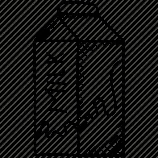 Beverage Dairy Food Milk Pack Milk Package Tetra Brik Icon
