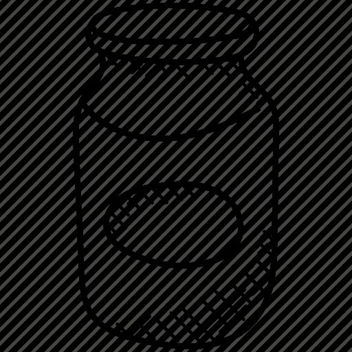 food jar, food preserver, glass jar, kitchenware, spice jar icon