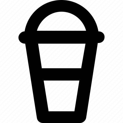 cold coffee, disposable, juice cup, smoothie, straw icon