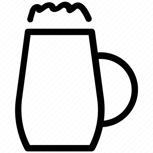 beer, beer cup, beer glass, chilled beer icon