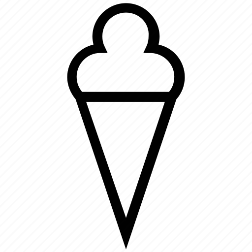 cone, cone icecream, dessert, ice cream, icecream, icecream cone, sweet icon