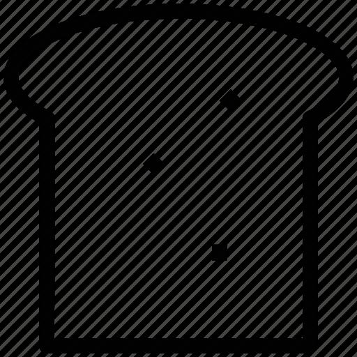 bakery, bread, breakfast, food, gluten, sponge cake, toast icon