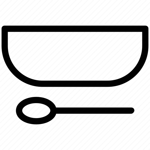 bowl, bowl with spoon, hot soup, soup, spoon and bowl icon
