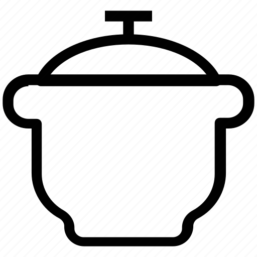 cooking pot, food, hot pot, pressure cooker, saucepan icon