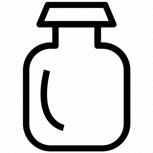 confiture, food jar, fruit preserve, jar, marmalade, sugar box icon