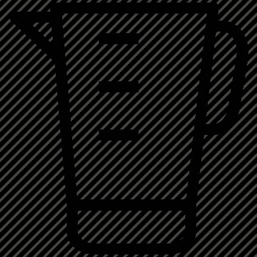 beaker, jug, jug of water, measurement jug, pitcher, plastic jug icon