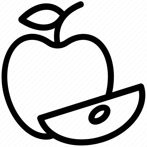 apple, apple piece, fresh food, fresh fruit, fruit icon