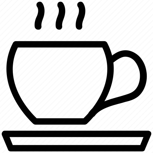 coffee tea, cup and saucer, cup of coffee, cup of hot tea icon