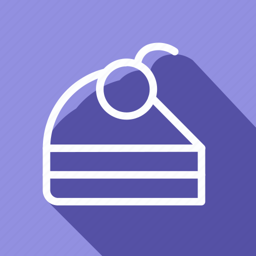 appliance, cake, cake with cherry, cooking, gastronomy, kitchen, utensils icon