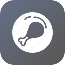 chicken, drumstick, food, kitchen, nonveg, piece, turkey icon