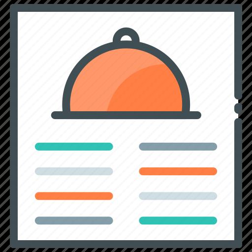 Food, food list, hotel, menu, restaurant icon - Download on Iconfinder