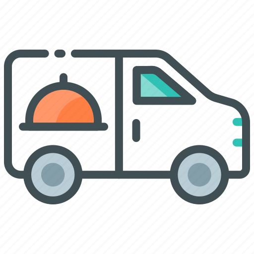 car delivery, deliver food, delivery truck, online delivery, order food icon