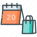 calendar, food, food delivery, online, order food icon