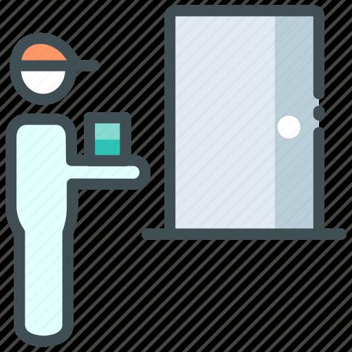 Delivery, door delivery, door step, food app, home delivery, order icon - Download on Iconfinder