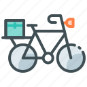 bicycle delivery, home delivery, online food icon
