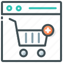add cart, add food, food website, online, order food icon