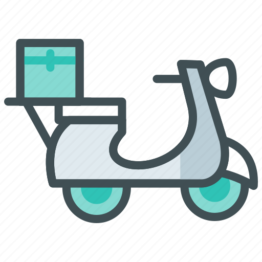 Food delivery scooter, home delivery, online order, scooter, website icon - Download on Iconfinder