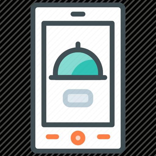 application, food app, mobile app, online, order food, order meal icon