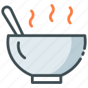 hot, hot food, meal, order food, soup icon