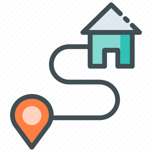 Address, delivery location, gps, home delivery, route icon - Download on Iconfinder