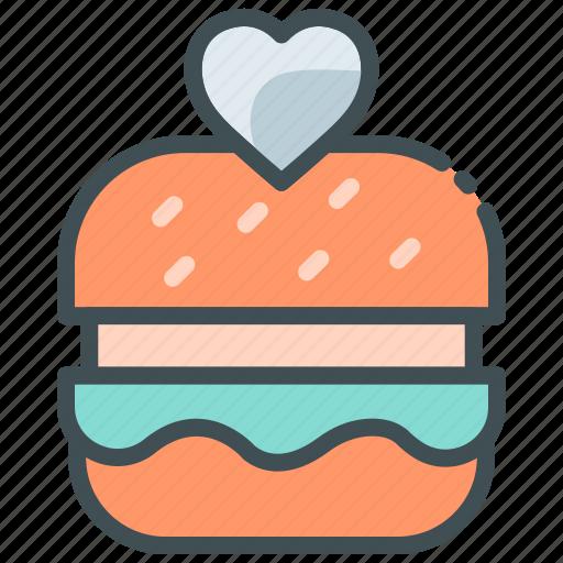 Application, burger, favorite food, food app, heart, wishlist icon - Download on Iconfinder