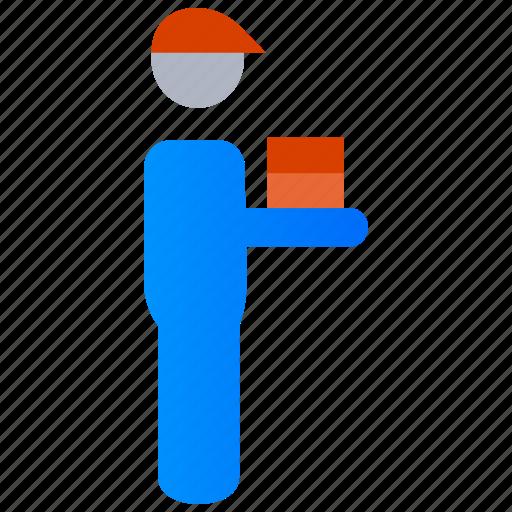 Deliver, delivery, food, food delivery boy, parcel icon - Download on Iconfinder