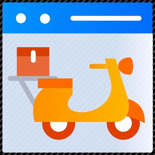 Food application, home delivery, online order, scooter, website icon - Download on Iconfinder