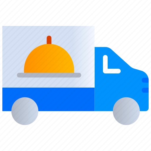 food, food delivery truck, online order, truck icon