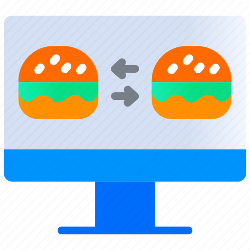 Application, burger, compare food, delivery, food app, food price icon - Download on Iconfinder