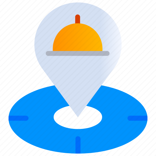 Address, delivery, gps, location pointer, map with location pointer, meal icon - Download on Iconfinder
