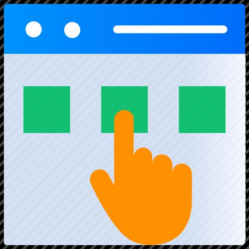 Application, click, mobile app, order food, select food, website icon - Download on Iconfinder