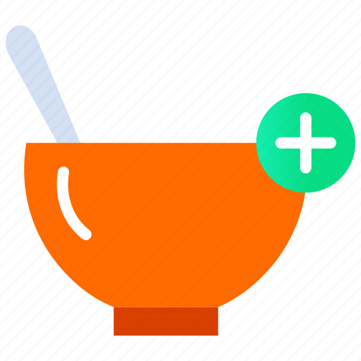 Add food, add to cart, food app, order, soup icon - Download on Iconfinder