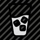 cold, drink, foood, fresh, glass, liquid, water icon