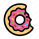 cake, dessert, donut, doughnut, foood, sugar, sweet icon