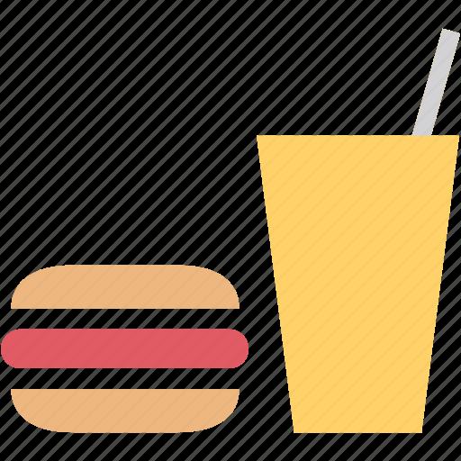 burger, drink, fast, food, restaurant, snack icon