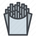 fastfood, food, french fries, fries, potatoes icon