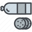 food, meat, salami, sausage, slice icon