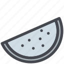 fruit, melon, slice, sweet, watermelon icon