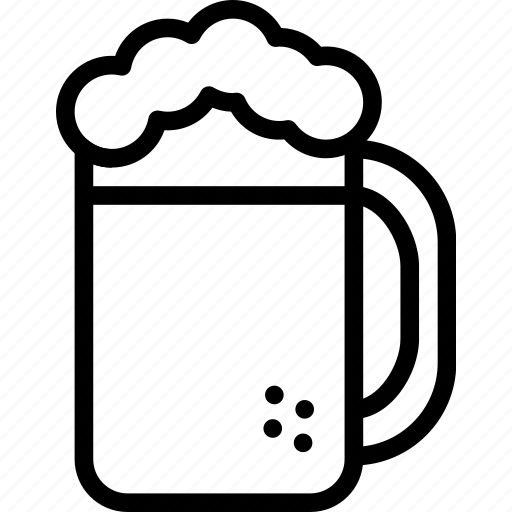 beer, beverages, food, glass, groceries icon