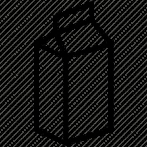 beverages, carton, food, groceries, milk icon