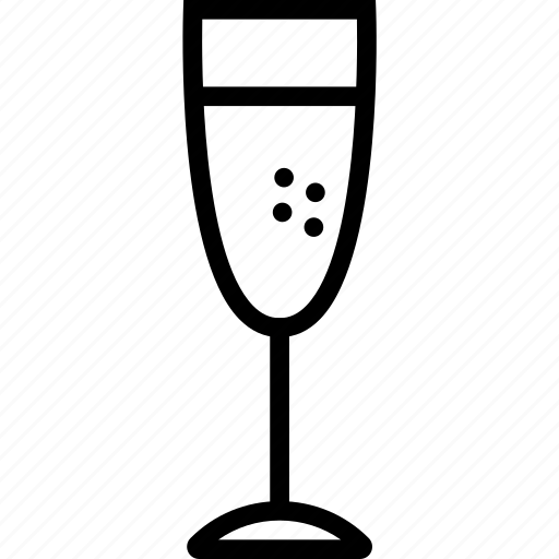 beverages, champagne, food, glass, groceries icon