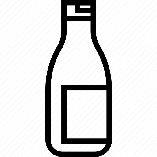 beverages, bottle, food, groceries, ketchup icon