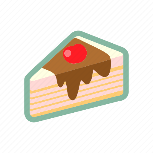 bakery, cake, food, slice, topping icon