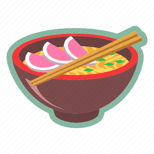 bowl, noodles, oriental, ramen, sticks icon