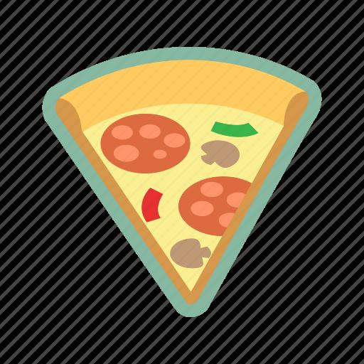 fast food, food, leftovers, pizza, slice icon