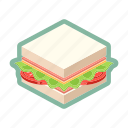 bread, meal, sandwich, snack, supper icon