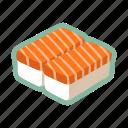 raw, sushi, japanese food, maki, salmon fish