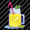 citrus, drink, freshness, jar, juice, lemon, lemonade icon